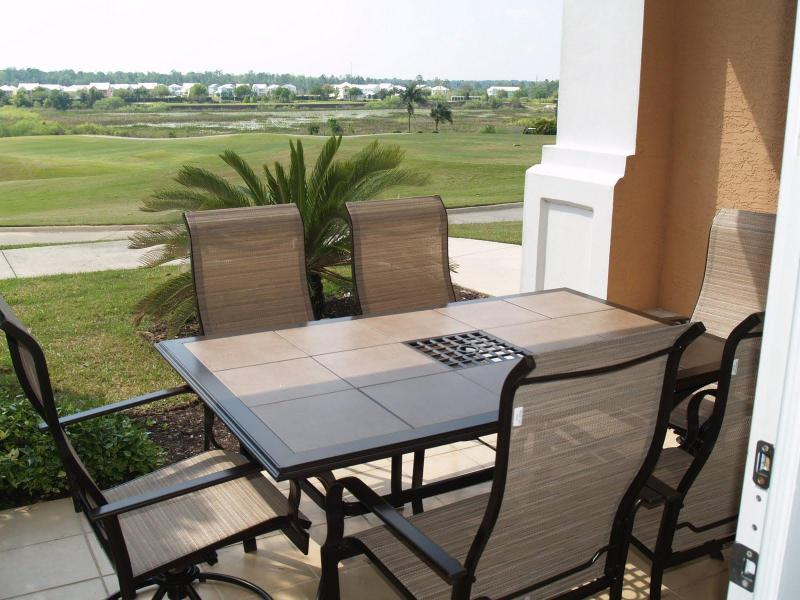 Patio overlooking golf course - 5 Star Reunion Resort Condo on Golf Course - Reunion - rentals