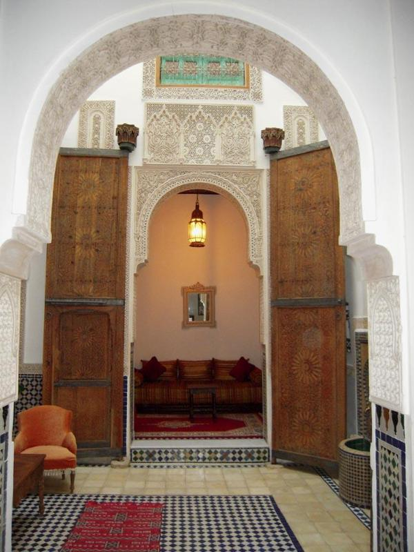 arches in the interior patio - Dar Daheb, traditional house in the medina - Fes - rentals