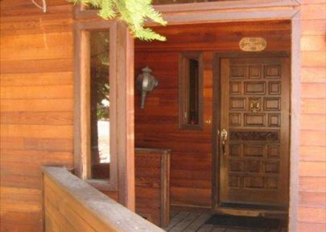 Covered Entry - Alpine Meadows Pine Trail Home - Spacious Family Summer Vacation Rental - Lake Tahoe - rentals