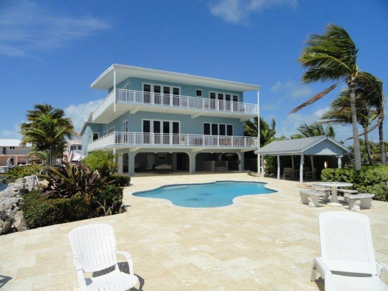 Back of the Home - Key Largo Oceanfront Luxurious Rental - Key Largo - rentals