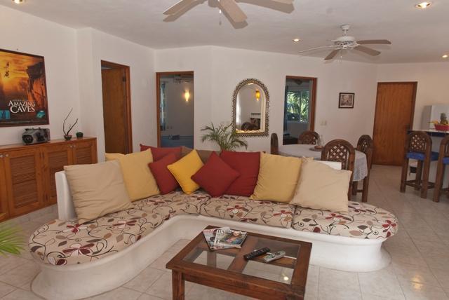 Open floor plan for living, dining, k - By YalKu & Caribbean 1-3 bedrooms sleep 1-6 guests - Akumal - rentals