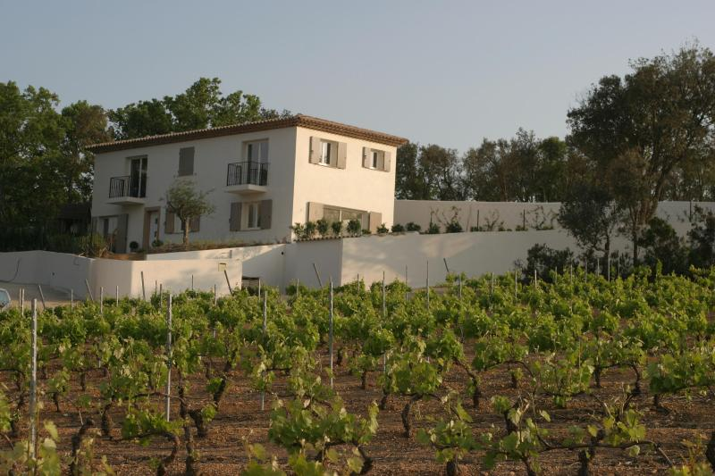 villa viewed from vineyard below - Villa 5 bedrooms 5 bathrooms heated pool & air con - Cogolin - rentals