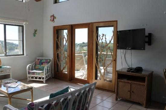 Light and airy great room leads to private deck with views to the Caribbean - Palmy Daze - U.S. Virgin Islands - rentals