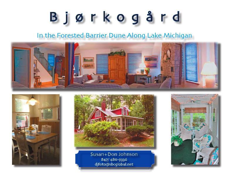 BJORKO LIVING ROOM, KITCHEN, PORCH - Bjorko - Vacation Home In Southwest Michigan - Sawyer - rentals