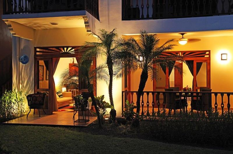 Terrace - 2 bedroom pool and garden view condo at Bahia Azul - Jaco - rentals