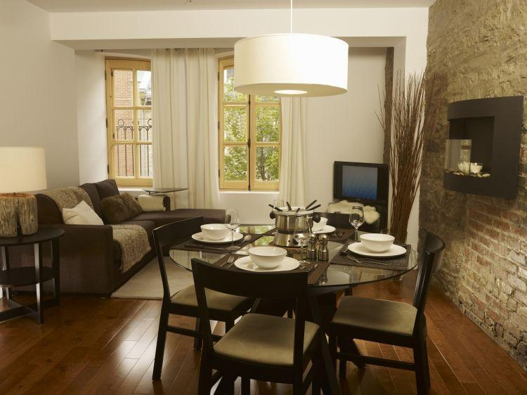 Open Area with Dining room and living room - Beautiful Condo in Quebec city old port - Quebec City - rentals