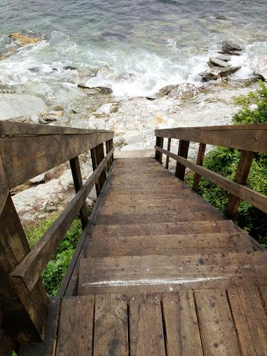 Our neighborhood stairs to the water - Ocean View and Access from Traditional Cottage - Jamestown - rentals