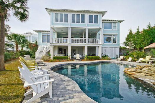 view of house from pool - Heaven By The Sea - prices listed may not be accurate - Tybee Island - rentals