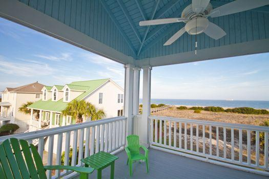 Upper level porch with views - 8 Sandlewood - prices listed may not be accurate - Tybee Island - rentals