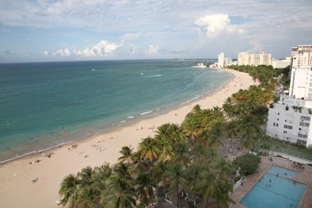 Isla Verde Beach View from 15th floor Balcony - San Juan, Puerto Rico, Isla Verde Beachfront Condo - Carolina - rentals