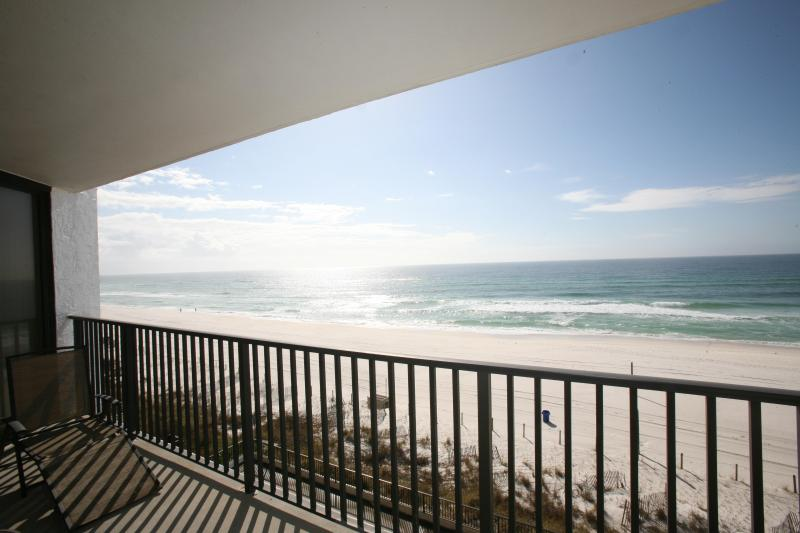 View to the East from Dining Room Door at Balcony - Gulf Front Three Bedroom w/ Panoramic Gulf Views! - Panama City Beach - rentals