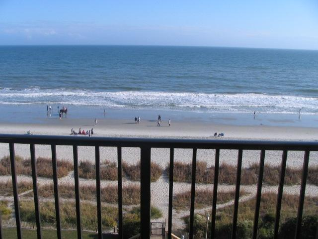 Spectacular view up and down the beach from the living room balcony - New 2 Bedroom Oceanfront Condo with 3 Flat Screens, in Myrtle Beach - Myrtle Beach - rentals
