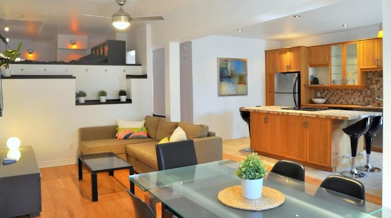 Beautifull 3 bedroom aptmt : accomodates 10 guests. Backyard (BBQ) & private parking (garage) - 3 BR chic apt : terrace & parking (close to metro) - Montreal - rentals