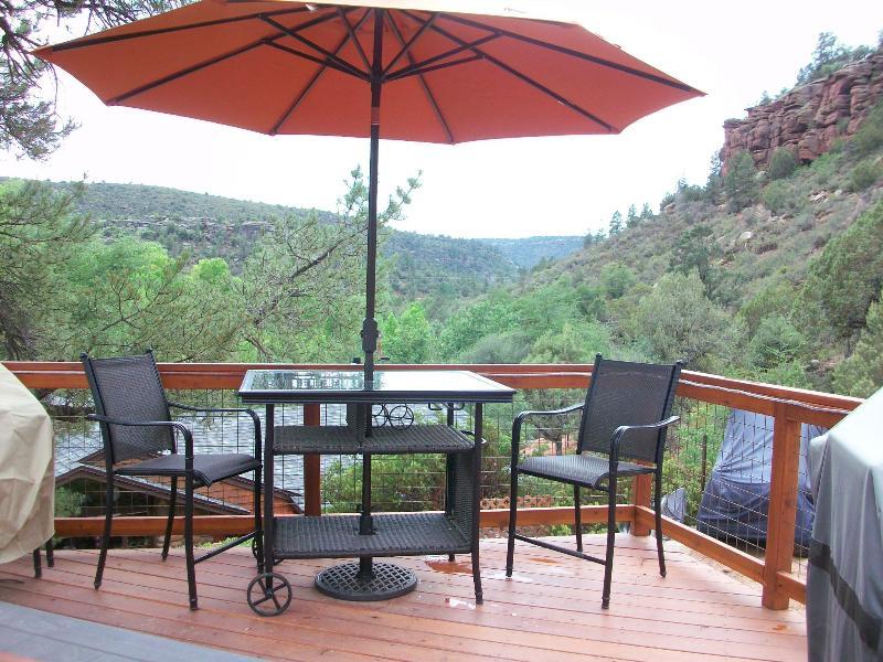 Private Deck and Patio - Casita - La Petite Maison Casita in the Pines - Payson - rentals