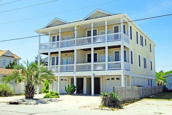PALMS UP - 5 Bedroom Oceanview Townhome in Kure Beach, NC - Kure Beach - rentals