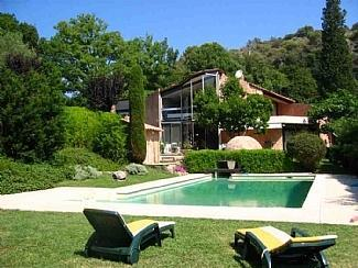 Pool and house - Modernist villa near Antibes, France - Biot - rentals