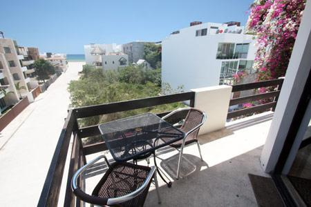 Private terrace with partial ocean view - Coco Beach Penthouse with Ocean View - Shailly - Playa del Carmen - rentals