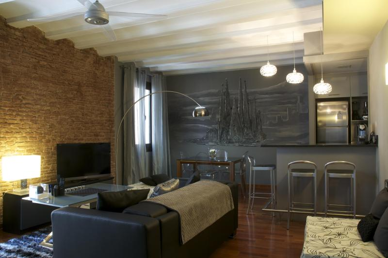 Living/dining - Luxurious 90m2 apartment in trendy Borne area - Barcelona - rentals