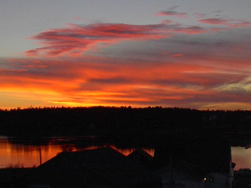 Sunset from third floor - The Gray Barn - Bass Harbor - rentals