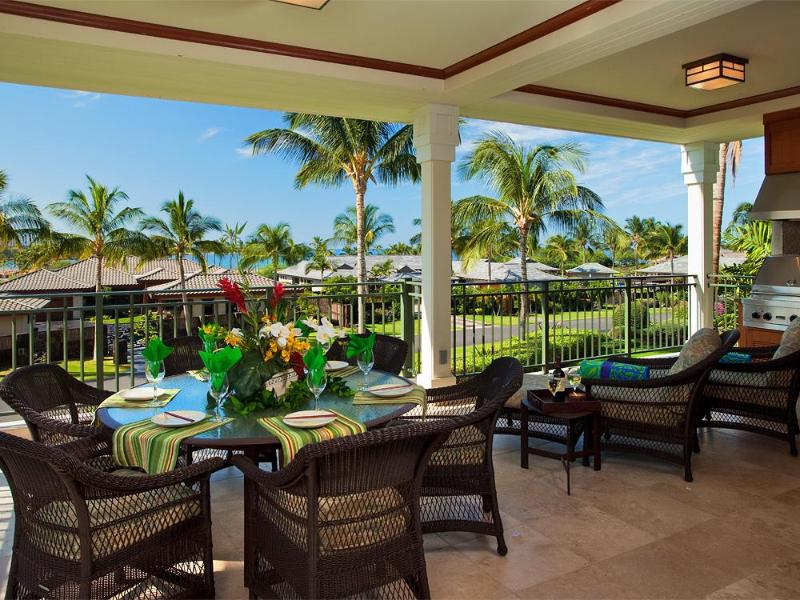 Kolea 12B - Spacious Lanai with Outdoor Dining - Kolea Villa 12B ~ Beachfront  with Ocean View - Waikoloa - rentals