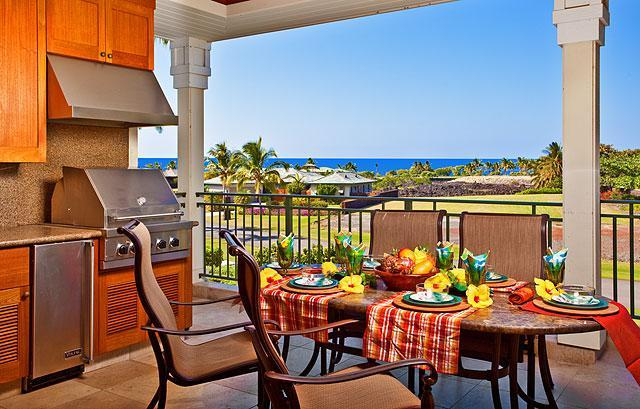 "Kolea Villa 1E - Lanai Kitchen/Dining with Ocean Views! - Kolea Villa 1E ~ Ocean View ~ ""Tropical Paradise"" - Waikoloa - rentals"