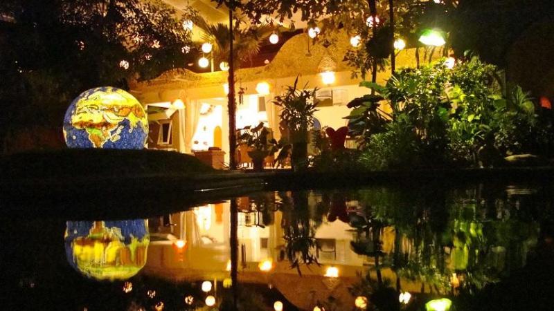 Looking at the villa from the luscious garden. Splendid. - Villa in Sanur, Southeast Bali - Sanur - rentals