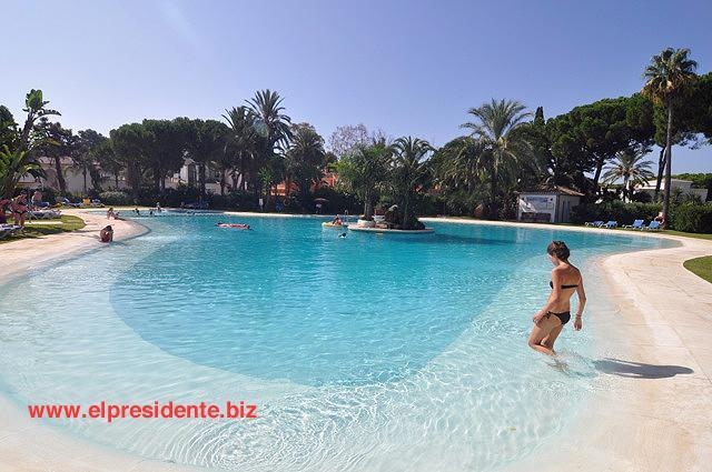 "Our beautiful main swimming pool is lagoon shaped - El Presidente ""KENT"" Beachside, Heated Pool + wifi - Estepona - rentals"