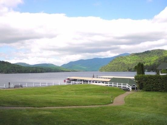 View from Harbor condos patio  - Harbor Condo #28 on Lake Placid - Lake Placid - rentals