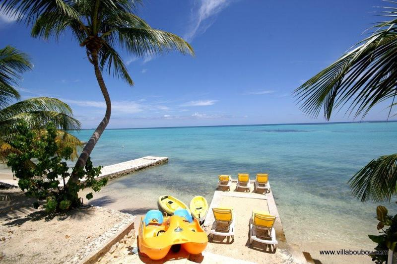 front of the villa overlooking the lagoon of Saint François Guadeloupe - Luxury Villa in Guadeloupe waterfront & golf  5 * - Saint-François - rentals