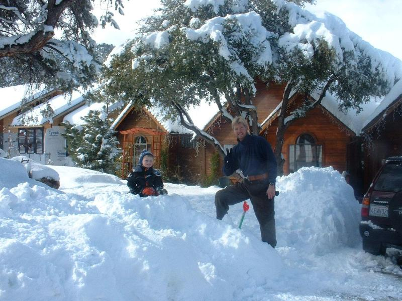 We got 3 feet of snow one year. This much is rare though, but so FUN. - Pine Mountain Club: 7 Bedroom Luxury Group Retreat - Pine Mountain Club - rentals