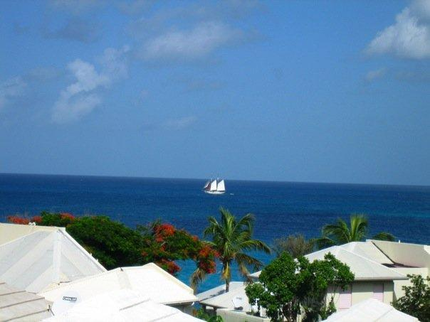 view from terrace off master bedroom - 2 BEDR townhouse overlooking OCEAN  ST- MAARTEN - Simpson Bay - rentals