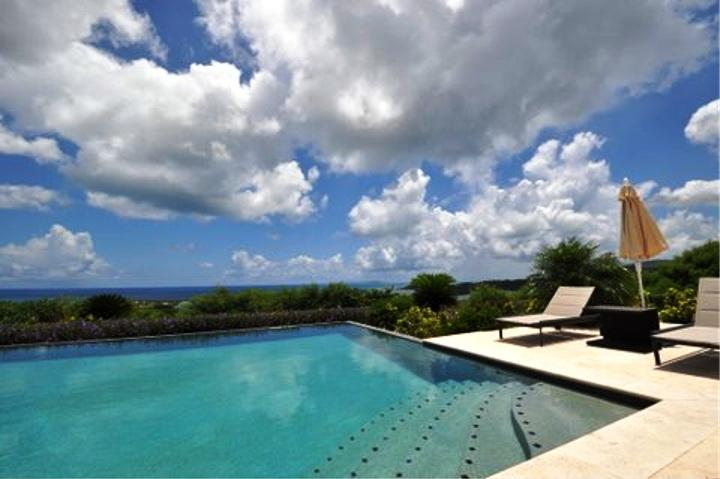 Villa Hope Belle Vue, Orient Bay, St Martin 800 480 8555 - HOPE BELLE VUE...  gorgeous new luxury villa overlooking Orient Bay - Orient Bay - rentals