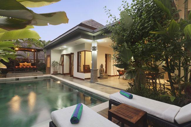 View of pool and 2nd bedroom - Villa Senang - 2 Bedroom Pool Villa in Canggu - Canggu - rentals