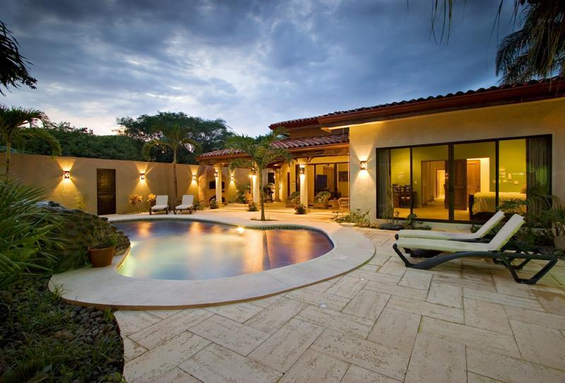 Night Pool - Casa Las Cascadas - Playa Flamingo - rentals