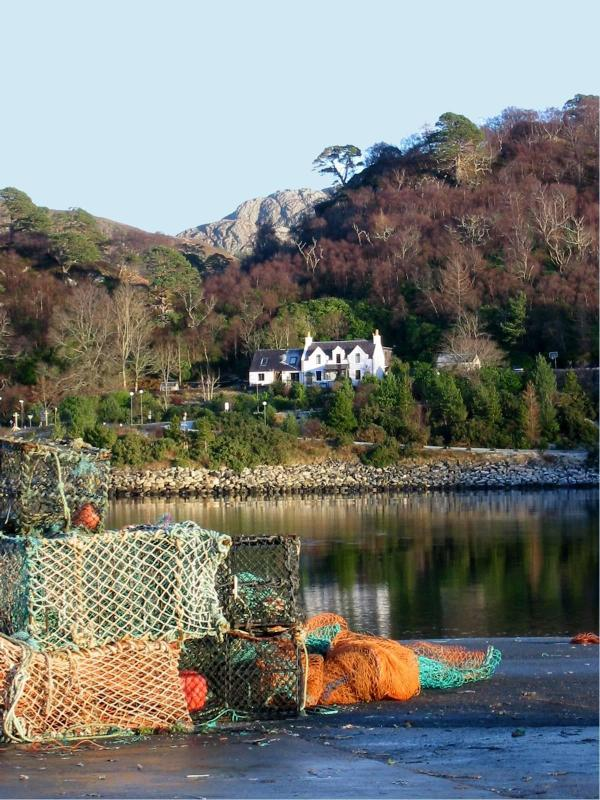 view of house from harbour - Gairloch Holiday House- Birchwood by the sea - Gairloch - rentals