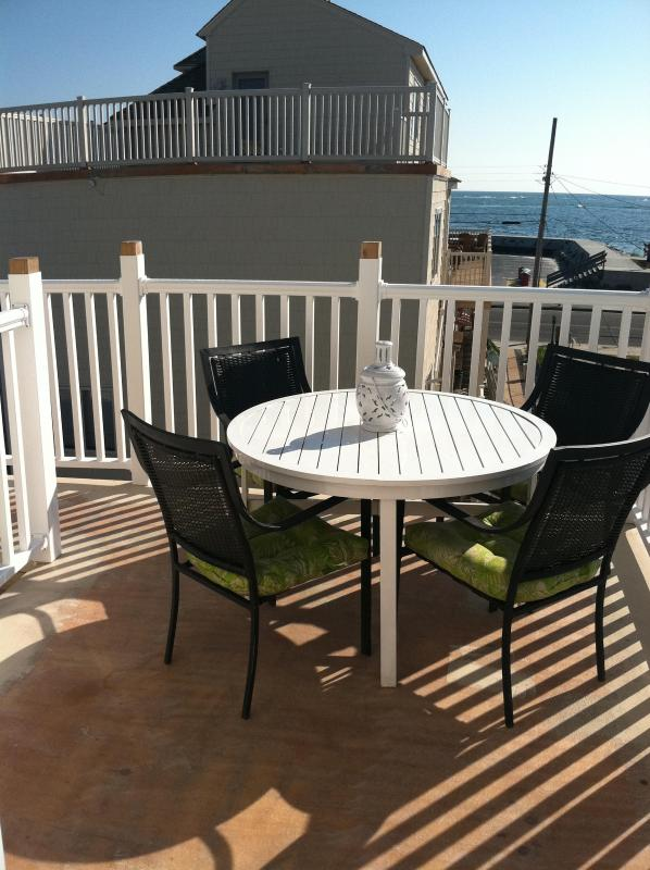 rear deck - OCEAN FRONT beautiful private condo - North Wildwood - rentals