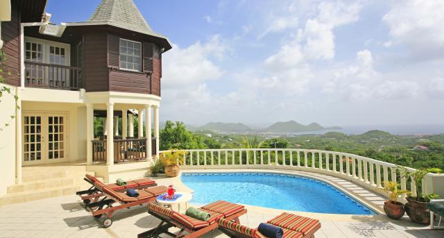 Residence du Cap at Golf Park, Cap Estate, Saint Lucia - Ocean View, In The Hills Of An Old Sugar Pl - Image 1 - Cap Estate - rentals