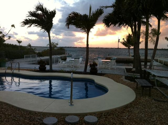 back yard - Ocean Front with Private Boat Basin and Pool - Little Torch Key - rentals