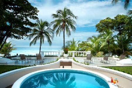 Beachfront Royal Villa- pool- jacuzzi, tropical grounds & resort access - Image 1 - Tambor - rentals
