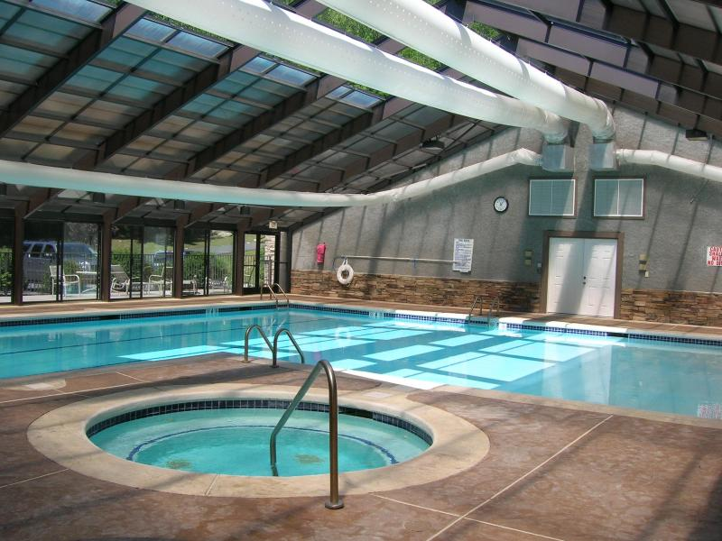 Indoor Pool - Grand Oaks RQ3 -  level entry, access to pools - Banner Elk - rentals