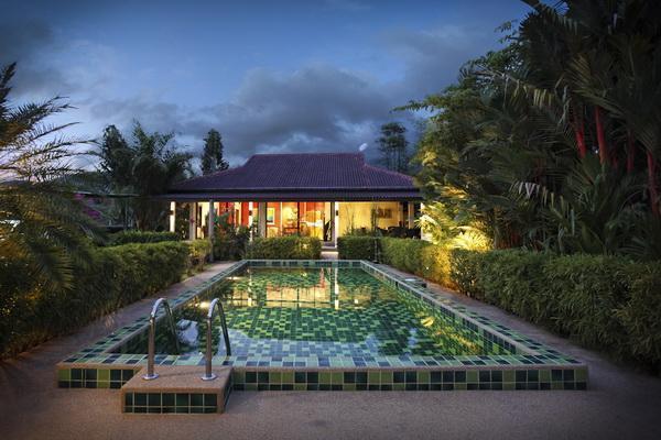 Villa view from pool - 3 Bed Room Pool Villa in Nai Harn, Rawai, Phuket - Phuket - rentals