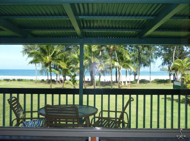 View from the living room windows of Hanalei Bay - Na Hoku, The Upstairs Beach House - Hanalei - rentals