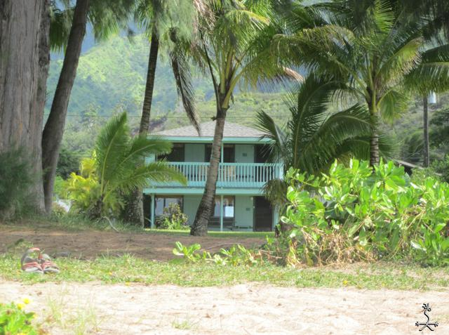 Keone from the sands of Hanalei Bay - Keone, The Downstairs Beach House - Hanalei - rentals