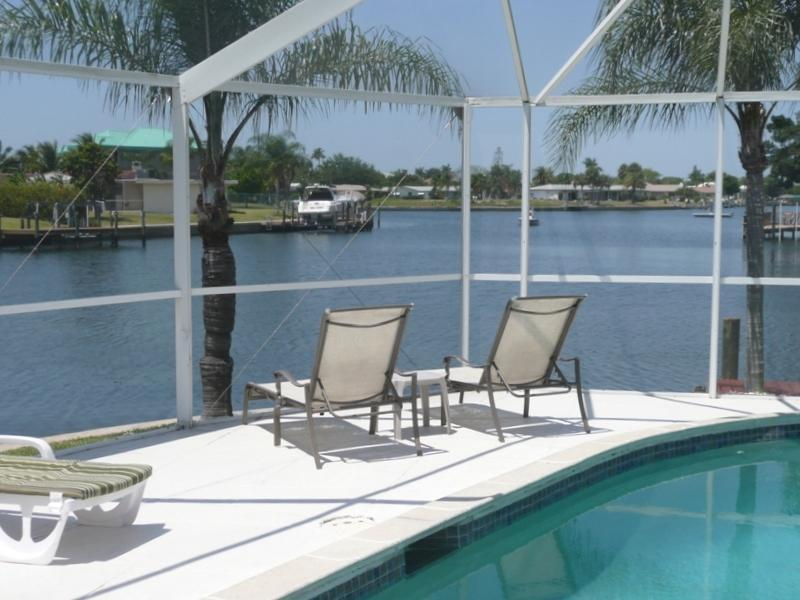 View from the Sourth West Facing pool - just minutes to the River - Waterfront Villa with Boat and South Facing Pool - Cape Coral - rentals