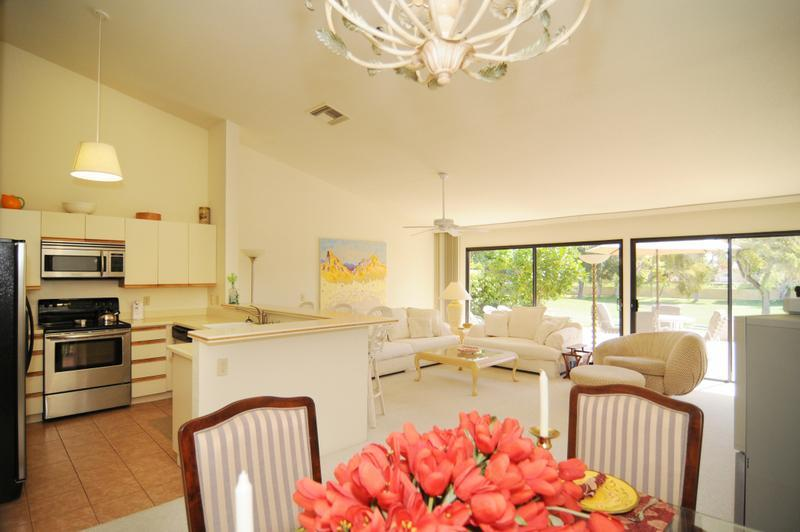 Dining Room, Living Room and Kitchen - Luxurious & Comfortable! - Property ID #WCC-41290E - Palm Desert - rentals