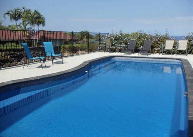 Pool - Maluna Palm is surrounded by lush tropical plants and flowers-PHMPalm - Kailua-Kona - rentals