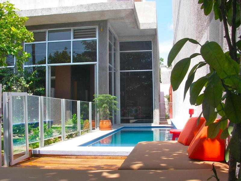 Yard - SAAMAL, a modern oasis in the heart of Tulum town. - Tulum - rentals