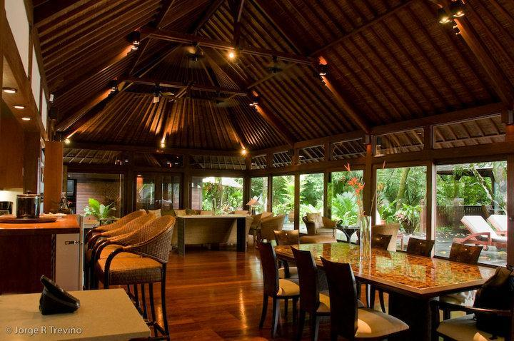 Inside the Main Living Pavilion - The Bali House on the Beach - Best Location!! - Manuel Antonio National Park - rentals