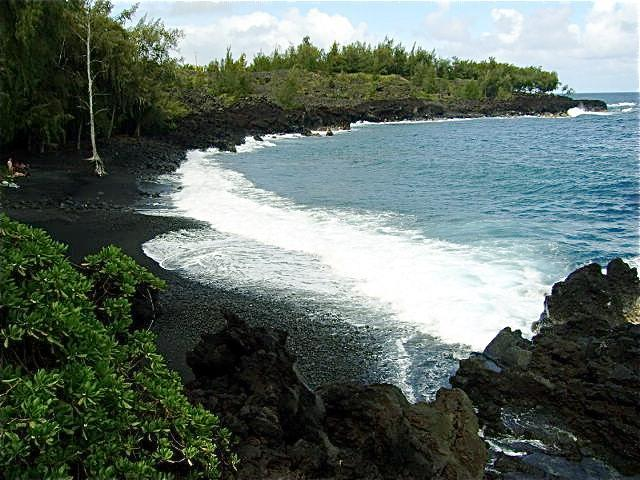 Beautiful black sand beach one mile from Hale Haumea cottage - Hawaii Volcanic Special Near Kehena Beach - Kalapana - rentals