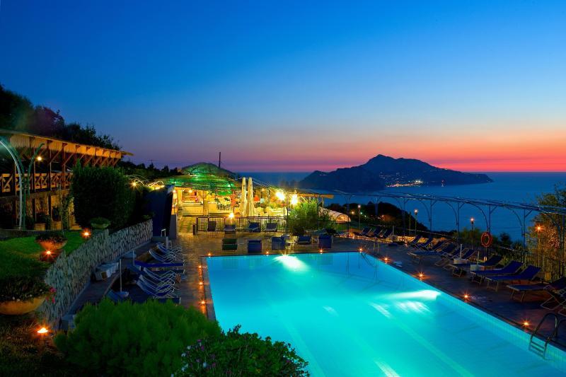 View from Gocce Di Capri - 1 bedroom Villa in Resort with Pool & Capri views - Sorrento - rentals